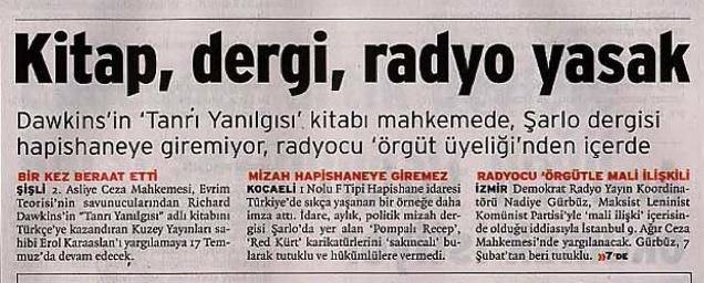 Birgün gazetesi 2009-07-15